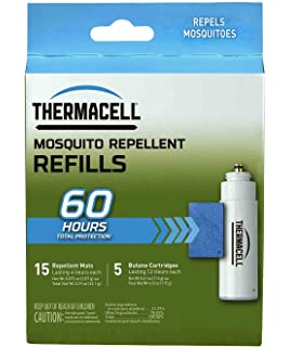Thermacell R 5 Mosquito Repeller Refill, 60 Hour Pack (15 Repellent Mats And