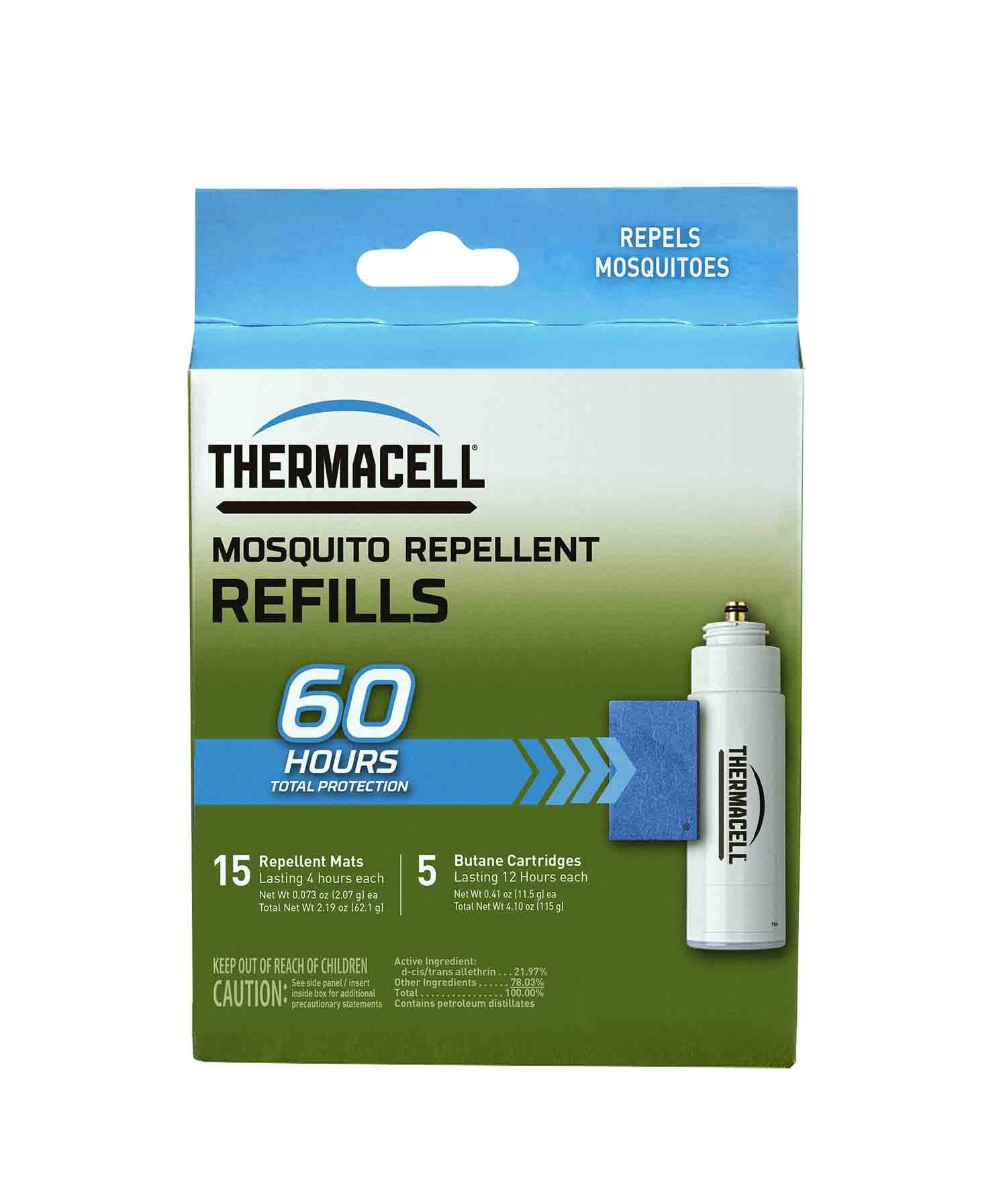 Thermacell R-5 Mosquito Repeller Refill,60 HourPack (15 Repellent Mats and 5 Fuel Cartridges)