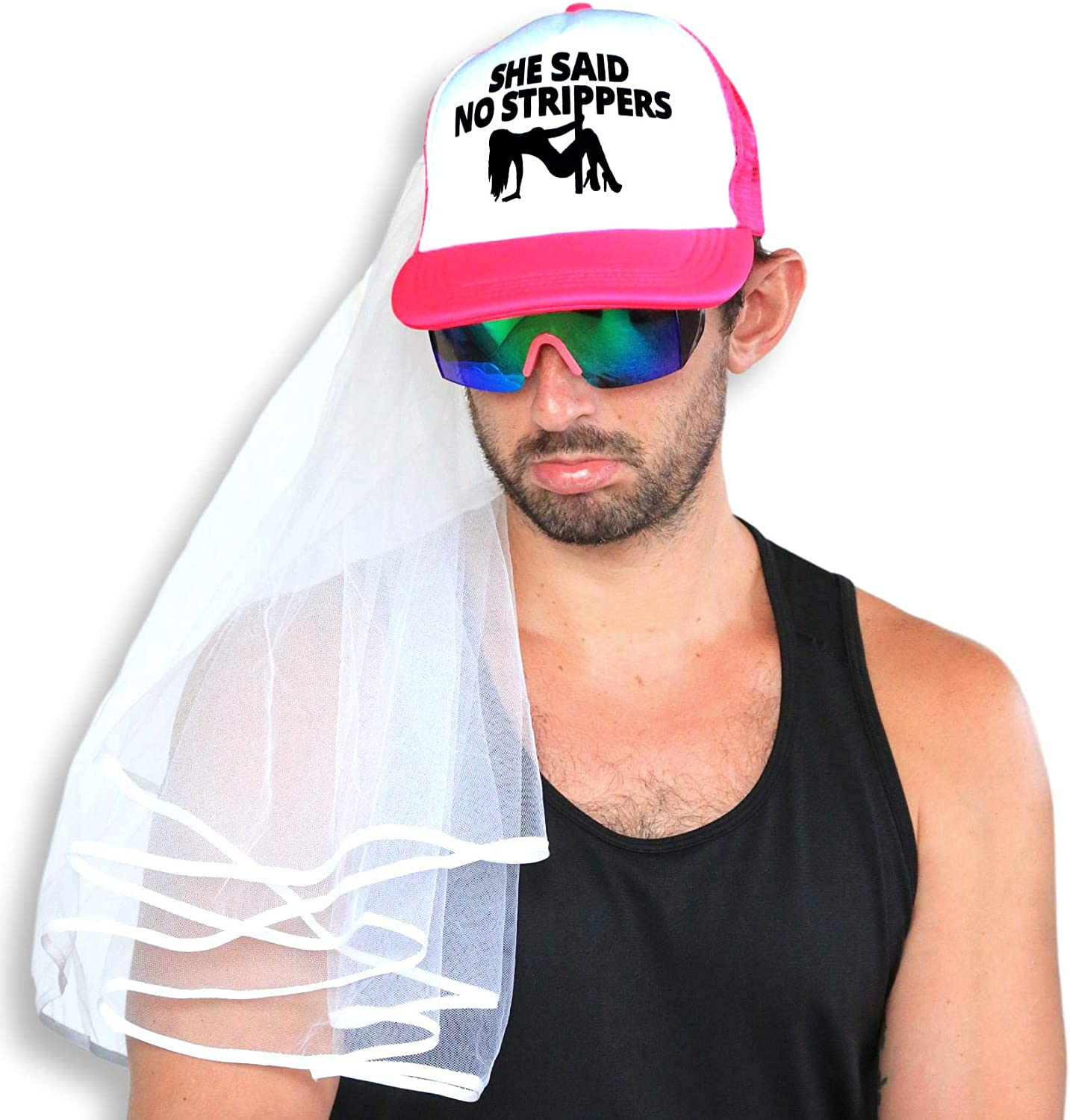 Bachelor Party Hat and Veil - Bachelor Party Ideas, Supplies, Gifts, Jokes and Favors …