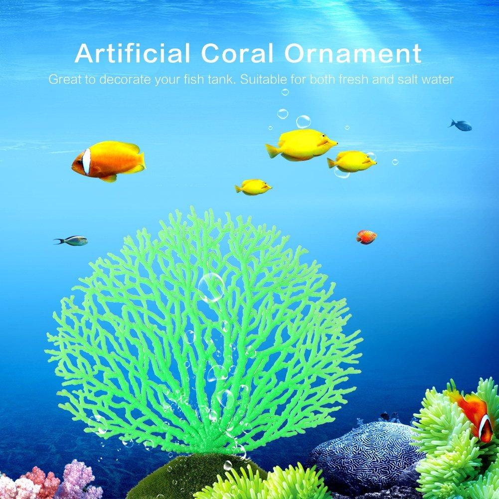 Asixx Artificial Ornamento de Coral, Decoración de La Planta de Acuario,para Acuario,Pecera,Jardín,Patio,Hotel Y Paisaje(Verde): Amazon.es: Productos para ...