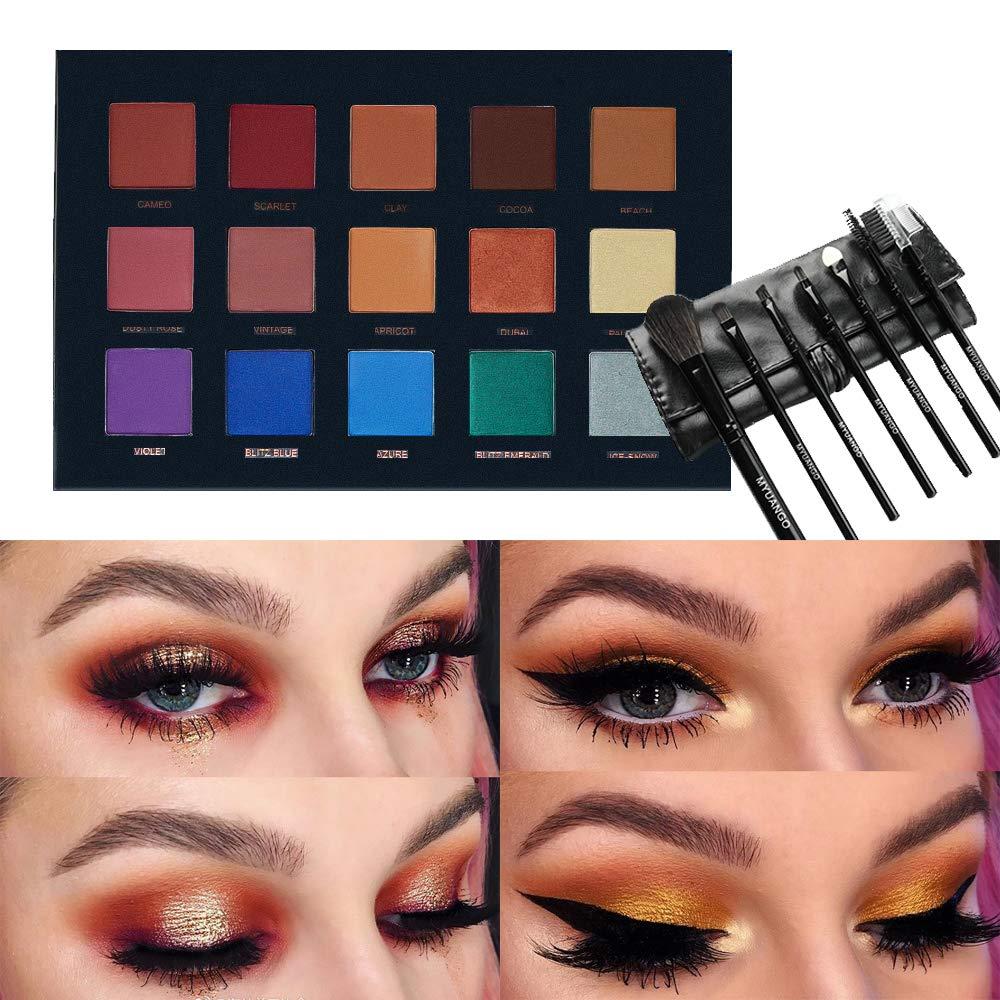 Amazon.com: Paleta de sombras de ojos Beauty Glazed de 15 ...