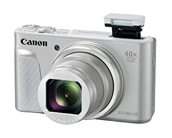 Canon PowerShot SX730 HS (Silver) 20MP Digital Camera with 40x Optical Zoom + Memory Card + Camera Case Point & Shoot Digital Cameras at amazon