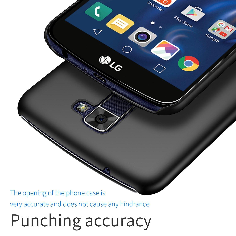 kqimi Slim Fit LG K10/LG Premier LTE Case [Ultra-Thin] Premium Material  Full Protection Cover for LG K10/LG Premier LTE 2016(Black)