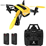 Racing Drone DEERC Quadcopter 2.4GHz 6-Axis Gyro Speed Up to 50KMH with Headless Mode Low Power Alert Function Nano Drone for Adults Mini RC Helicopters Ready to Fly