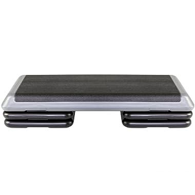 The Step Original Aerobic Platform for Total Body Fitness – Health Club Size with Platform and Original Black Risers