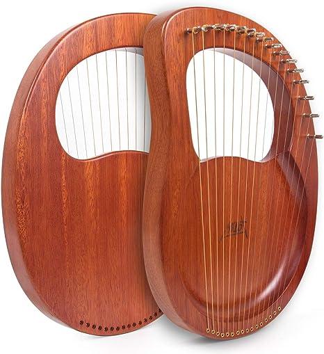 TODAYTOP Lyre Harp 16 Steel Strings Mahogany Wood Lye Harp with ...