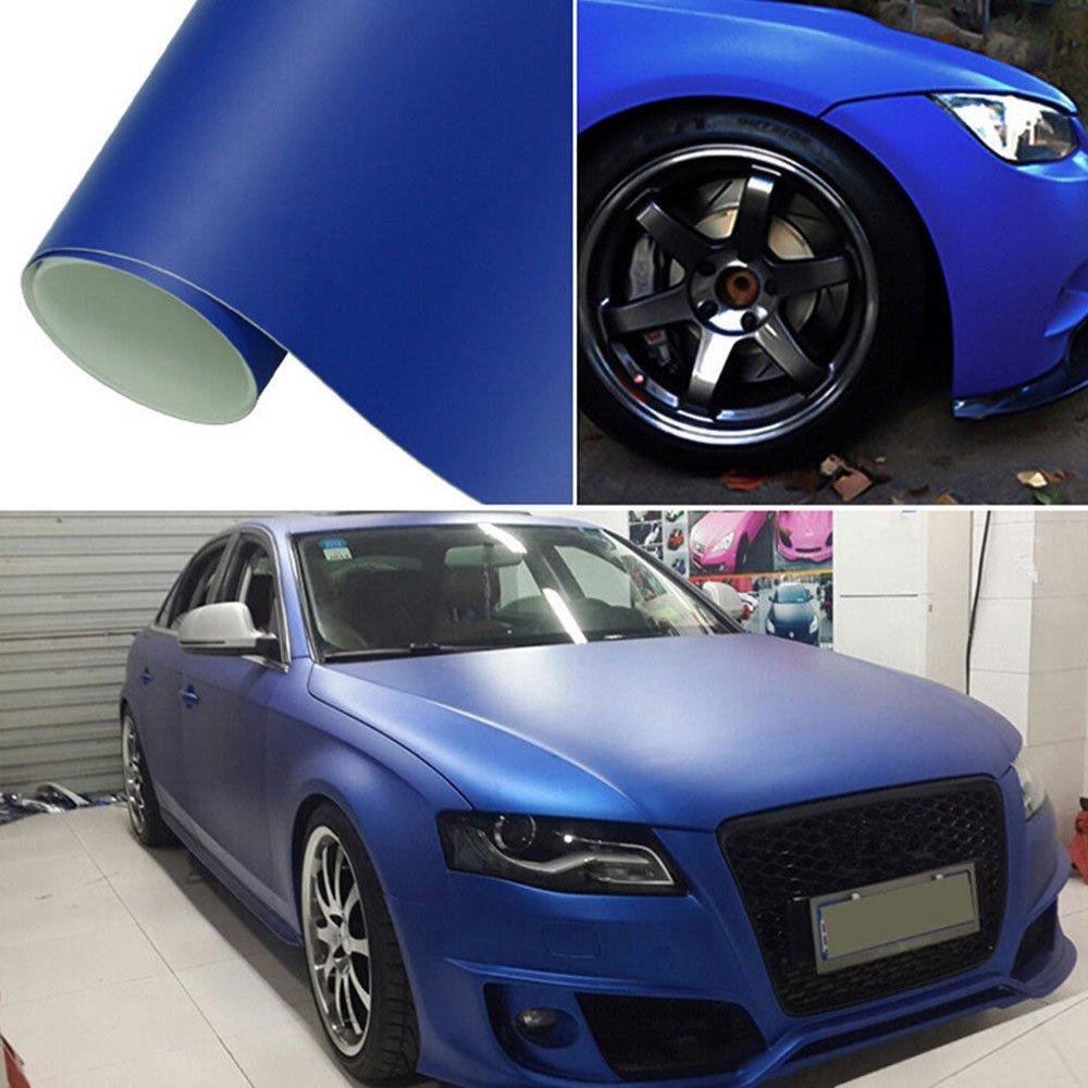 Hoho Bleu foncé en vinyle autocollant de voiture Wrap Tint film Aluminium Libération de bulles d'air 152,4x 30,5cm on sale