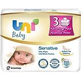 Uni Baby Sensitive Islak Pamuk Mendil 3lü