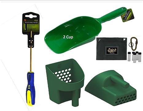 ... Detectors Tool Pak 2 | Sand Scoop | 2 Cup Super Scooper | Brass Coin Probe || Sand Scoop | Brass Coin Probe | Treasure Bag | Gold Vials & Locking Coyote ...