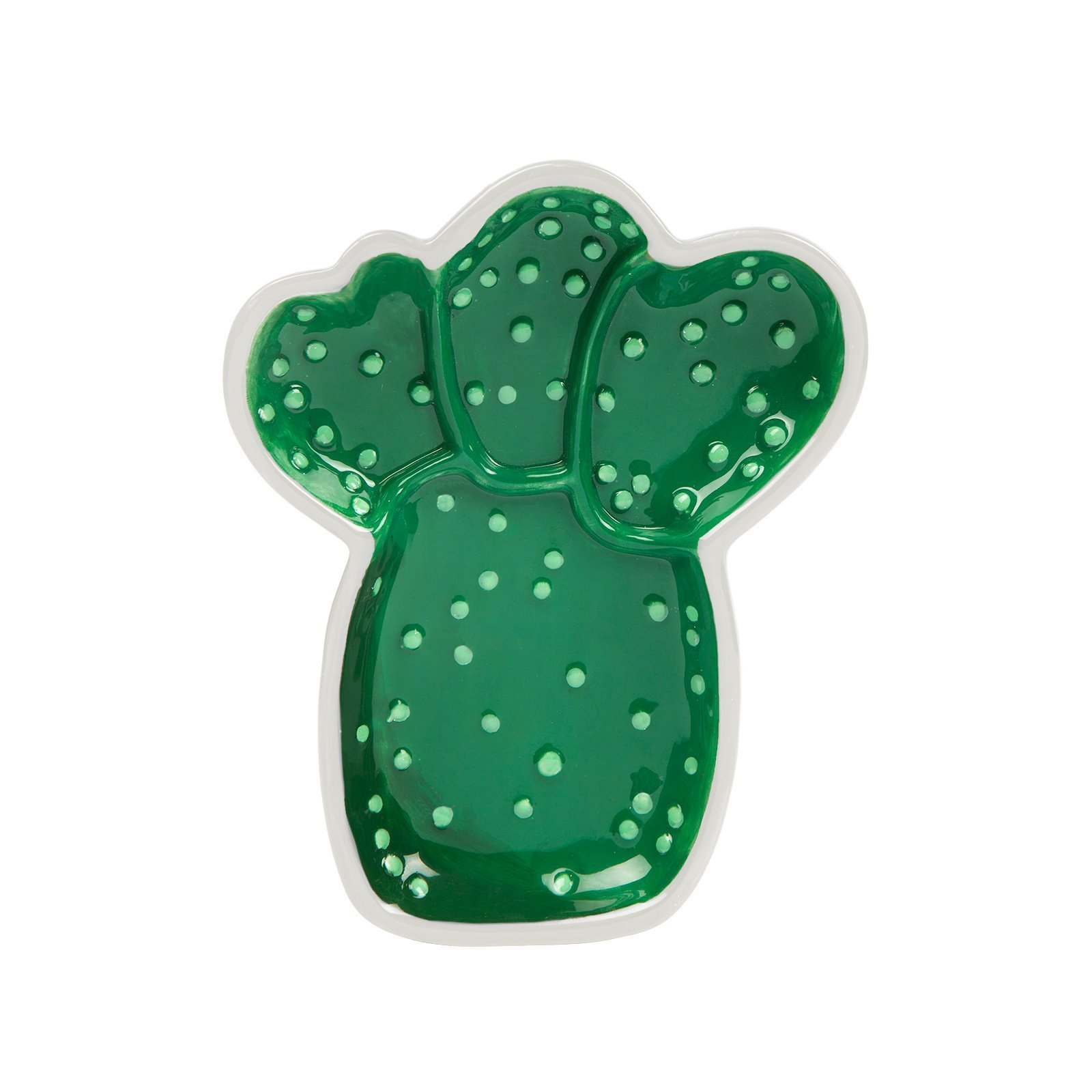SunnyLIFE Ceramic Trinket Tray - Candy, Rings & Jewelry Dish - Cactus Green