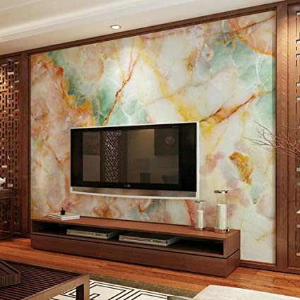 Amazon.com: Mznm Colorful Marble Contact Paper 3D Photo Wall Mural ...