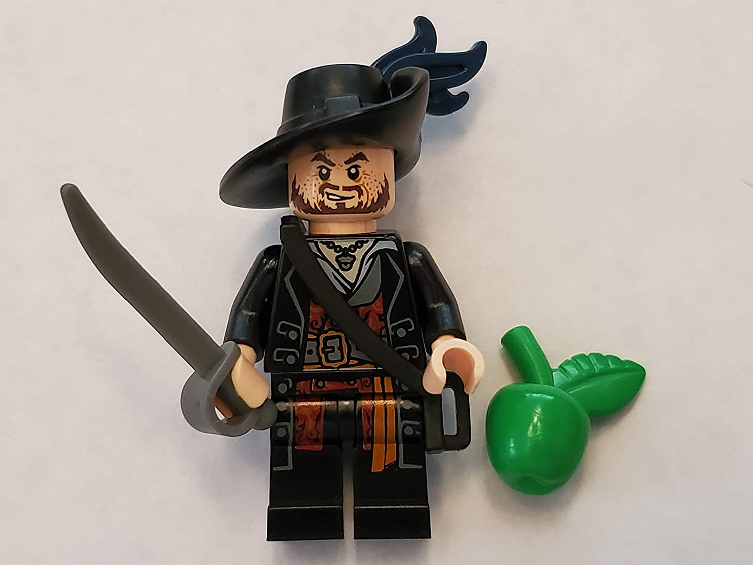 Lego Pirates of the Caribbean - Minifigure Hector Barbossa x1 Loose