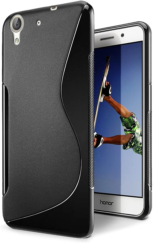 S-Line - Huawei Y6 II, Compatible con Huawei Y6 II 2, Color Negro ...