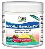 Pure Essence Labs Ionic Fizz Magnesium Plus - Calm Sleep Aid and Natural Anti Stress Supplement Powder - Raspberry Lemonade - 12.06 oz