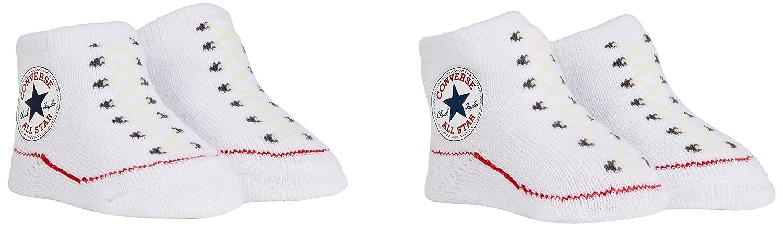 Converse CNV001 Baby-Girls 2 Pack Booties Socks