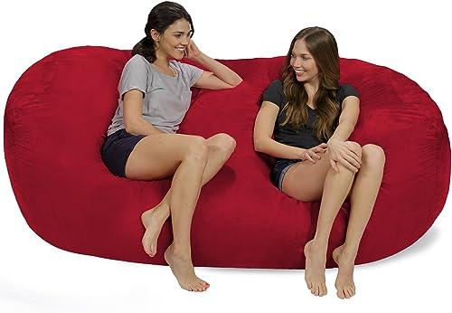 Chill Sack Bean Bag Chair: Huge 7.5' Memory Foam Furniture Bag and Large Lounger