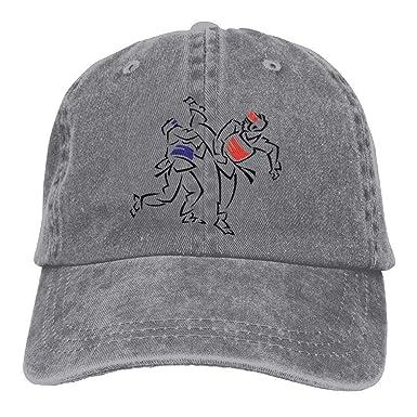 Hoswee Unisexo Gorras de béisbol/Sombrero, Punk Taekwondo Denim ...