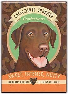 Retro Dogs Refrigerator Magnets: CHOCOLATE LAB | Vintage Advertising Art by Retro Pets