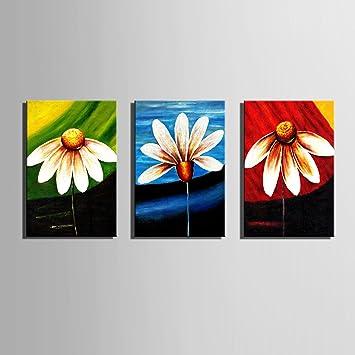 Gänseblümchen 100% handbemalt Home Decor Peinture à l\'huile Wall Art ...