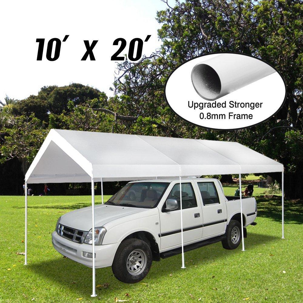 Amazon.com: VidaGoods Patio 10x20 Feet 8 legs Heavy Duty Garage ...
