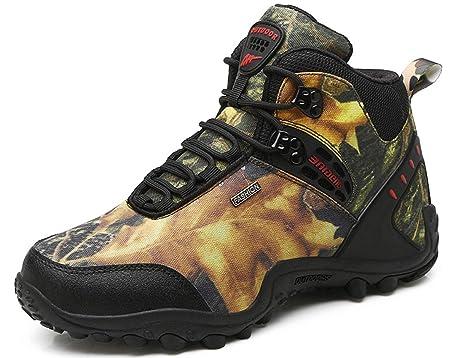 6a7d776a0d4 GNEDIAE para Hombre Botas de Senderismo Impermeables de Ocio al Aire Libre Zapatos  de Deporte Zapatillas
