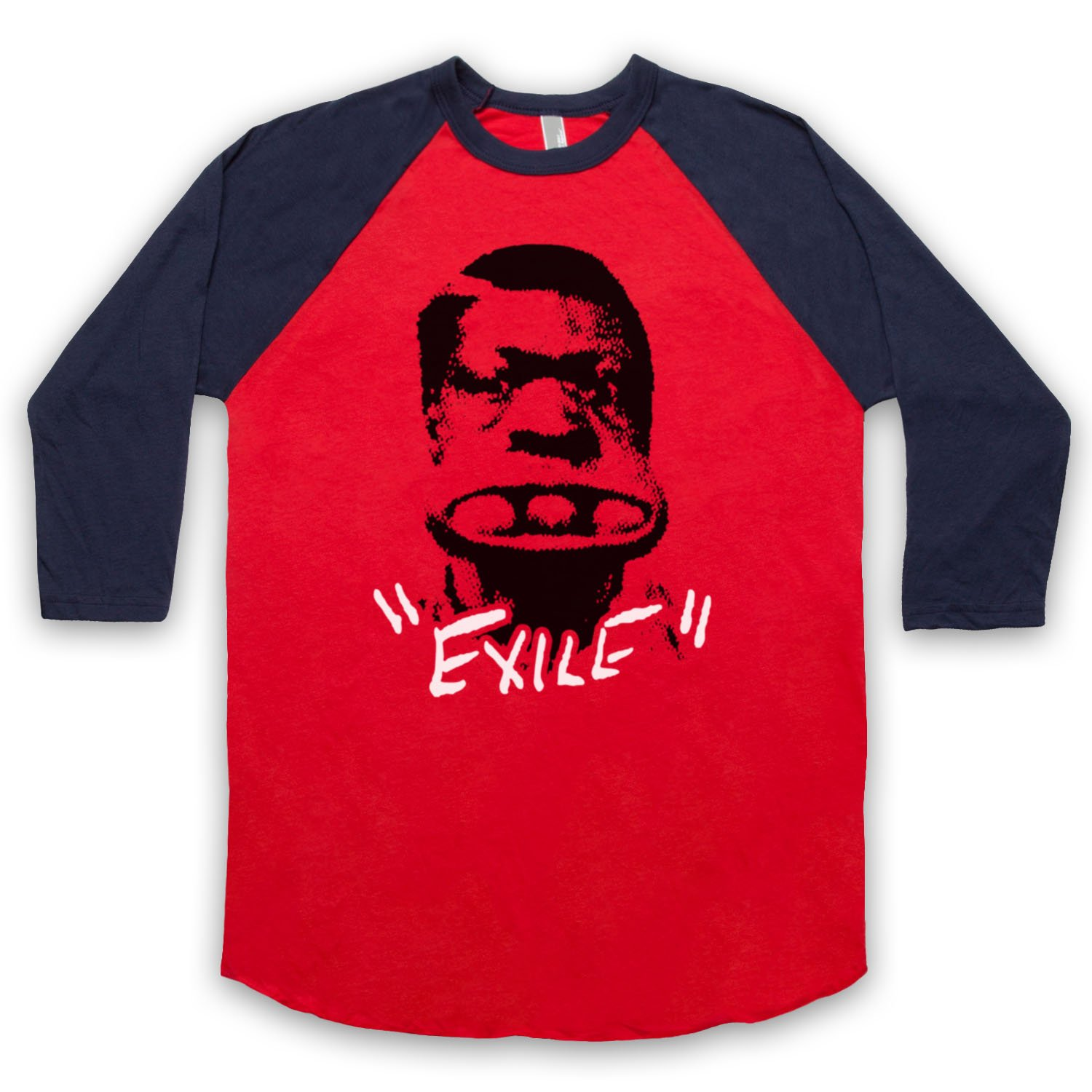 Inspired by Rolling Stones Exile On Main Street Unofficial 3/4 Sleeve Retro Baseball Tee