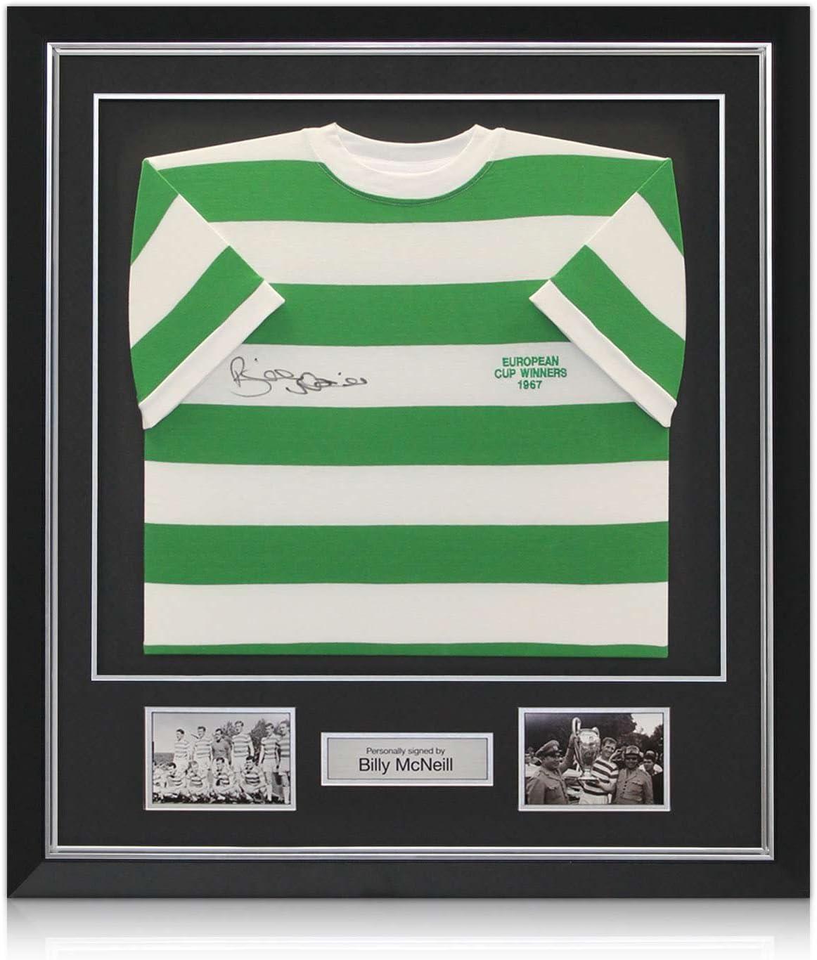 Camiseta de Billy McNeill Lisboa Leones Celtic Football Firmado, lujo enmarcado con incrustaciones de plata: Amazon.es: Deportes y aire libre