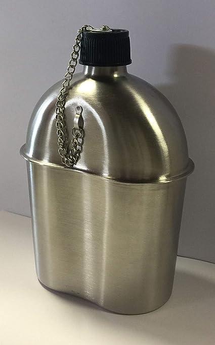 Amazon.com: G.I. estilo 1 Qt. Canteen de acero inoxidable ...