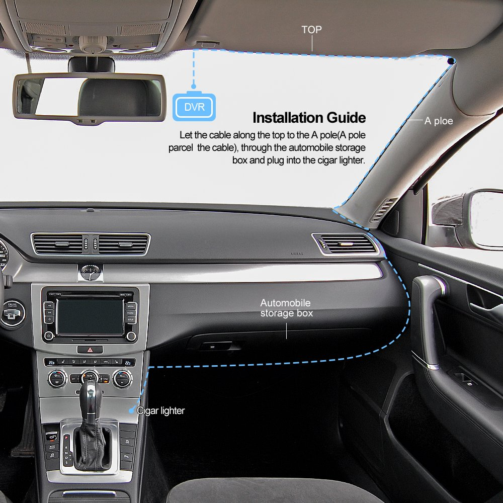 3 pulgadas FHD 1080P DVR coche salpicadero Grabadora 170/° lente de coche Grabadora de v/ídeo en el salpicadero c/ámara videoc/ámara Lavuky DR09s C/ámara de salpicadero de coche