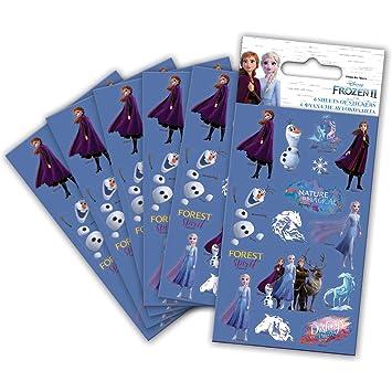 Paper Projects- Paquete de 2 pegatinas de Frozen (6 hojas ...