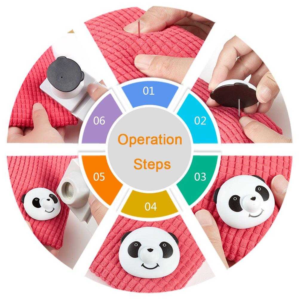 Coumix Duvet Cover Clips, Bed Sheet Clips Comforter Quit Corner Keeper Slip Resistance Magnetic Panda Duvet Donut 12 Sets