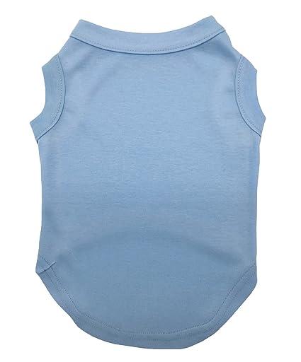 13d18cf22 Petitebella Puppy Clothes Dog Dress Plain Blue Sleeveless Cotton Tee T Shirt  (Medium)