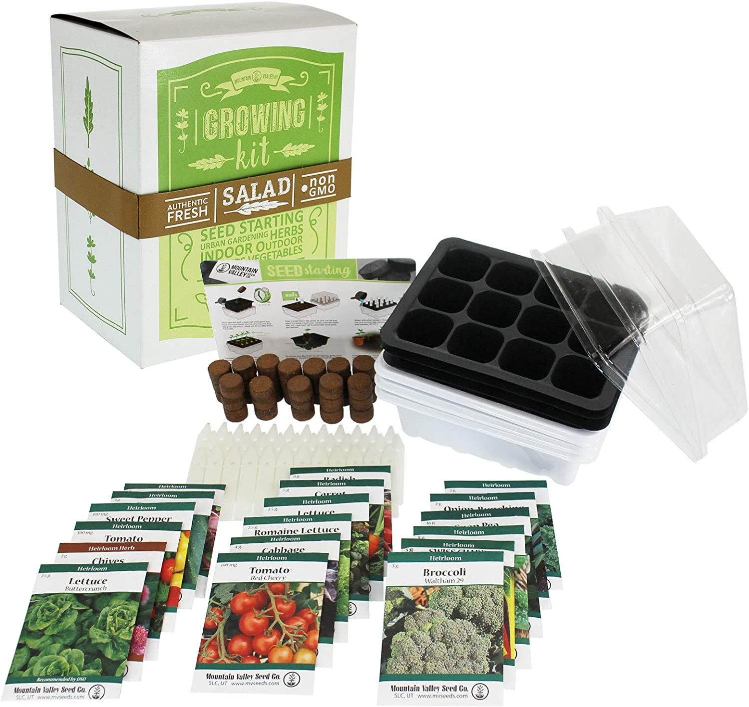 Mexican Salsa & Hot Sauce Making Kit | Premium Kit | 18 Non-GMO Seed Varieties | Mexican Seeds for Hot Sauce, Salsa, Pico De Gallo | Cilantro Herb, Tomato, Onion, Peppers, Basil, Jalapeno, More