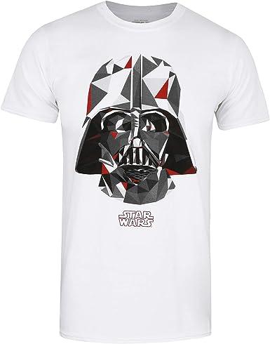 Star Wars Geo Vader Camiseta, Blanco (White White), Large ...