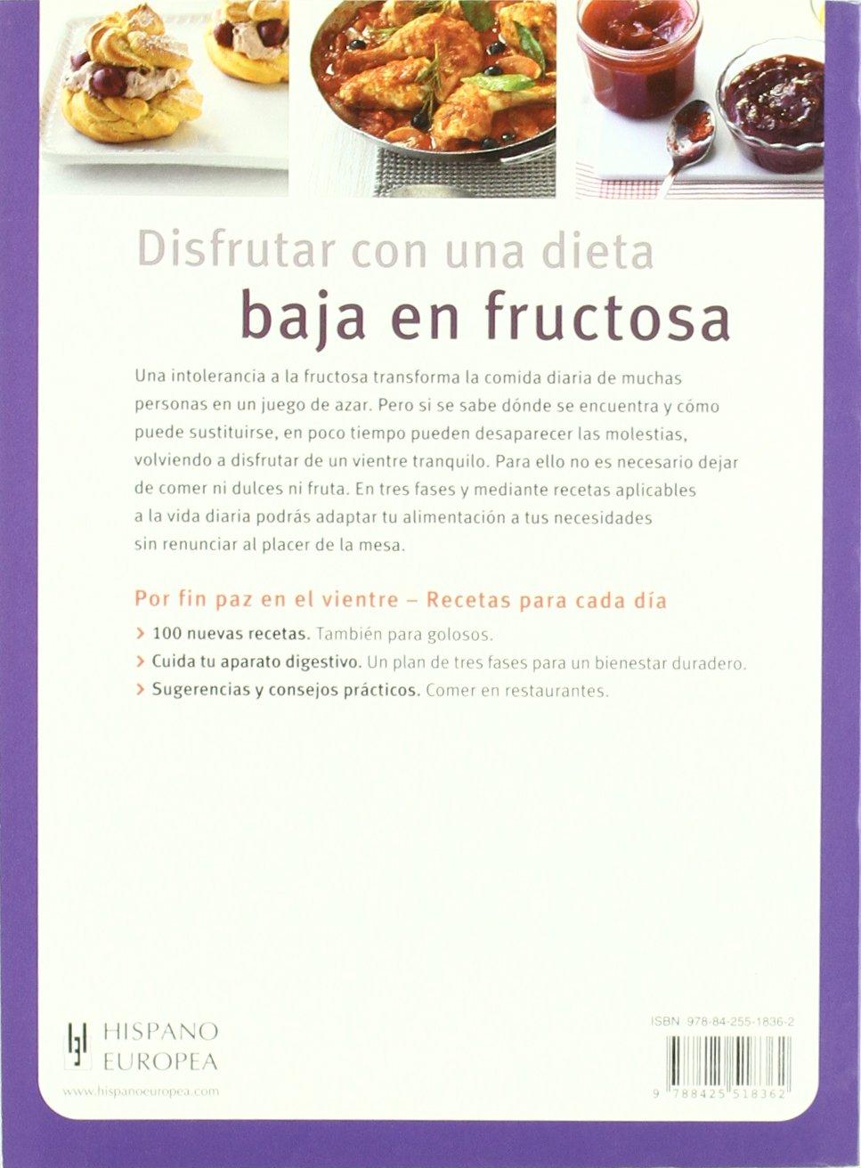 Dieta sin fructosa menu