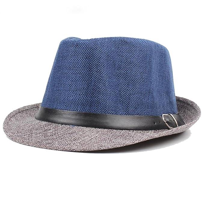 AOBRITON Fedora Sombrero de Sol para Mujer y Hombre 7b044ab7af2