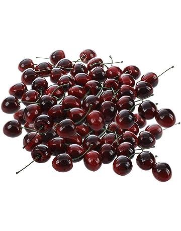 EQLEF® Simulación de la fruta, frutas artificiales para la decoración (36 pcs cereza