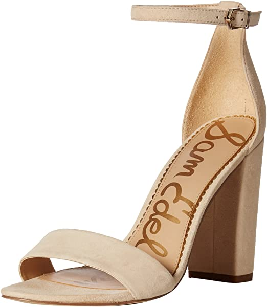 53e0ce8c7b5 Sam Edelman Women s Yaro Heeled Sandal Summer Sand Suede 7 M US. Back.  Double-tap to zoom