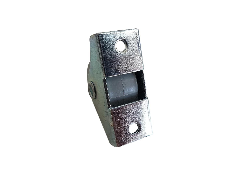 Rueda de goma de 25 mm de plástico giratoria doble ruedas metálicas con placa muebles electrodomésticos y equipo pequeño mini ruedas Set: Amazon.es: ...