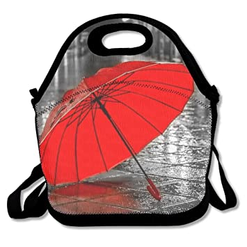 be09283c7db7 Amazon.com: Jingclor Red Umbrella In Street Insulated Portable ...