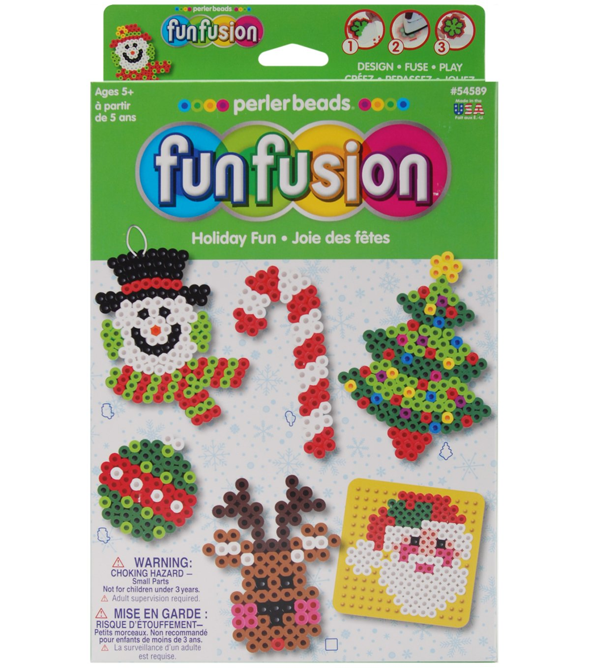 Funfusion fused perler bead Holiday craft kit