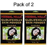 Herbal Hills Glolifehills Skin Powder - 100g Each (Pack of 2)