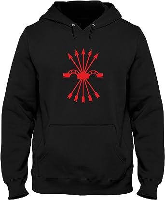 Speed Shirt Sudadera con Capucha Hombre Negro TM0289 falange ...