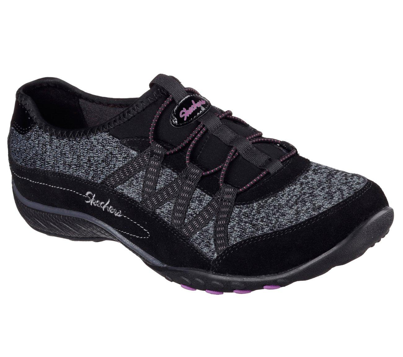 Skechers Relaxed Fit Breathe Easy Road Tripper Womens Slip On Sneakers Black 9.5