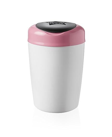 Tommee Tippee Simplee Sangenic Cubo de basura para pañales blanco roto rosa