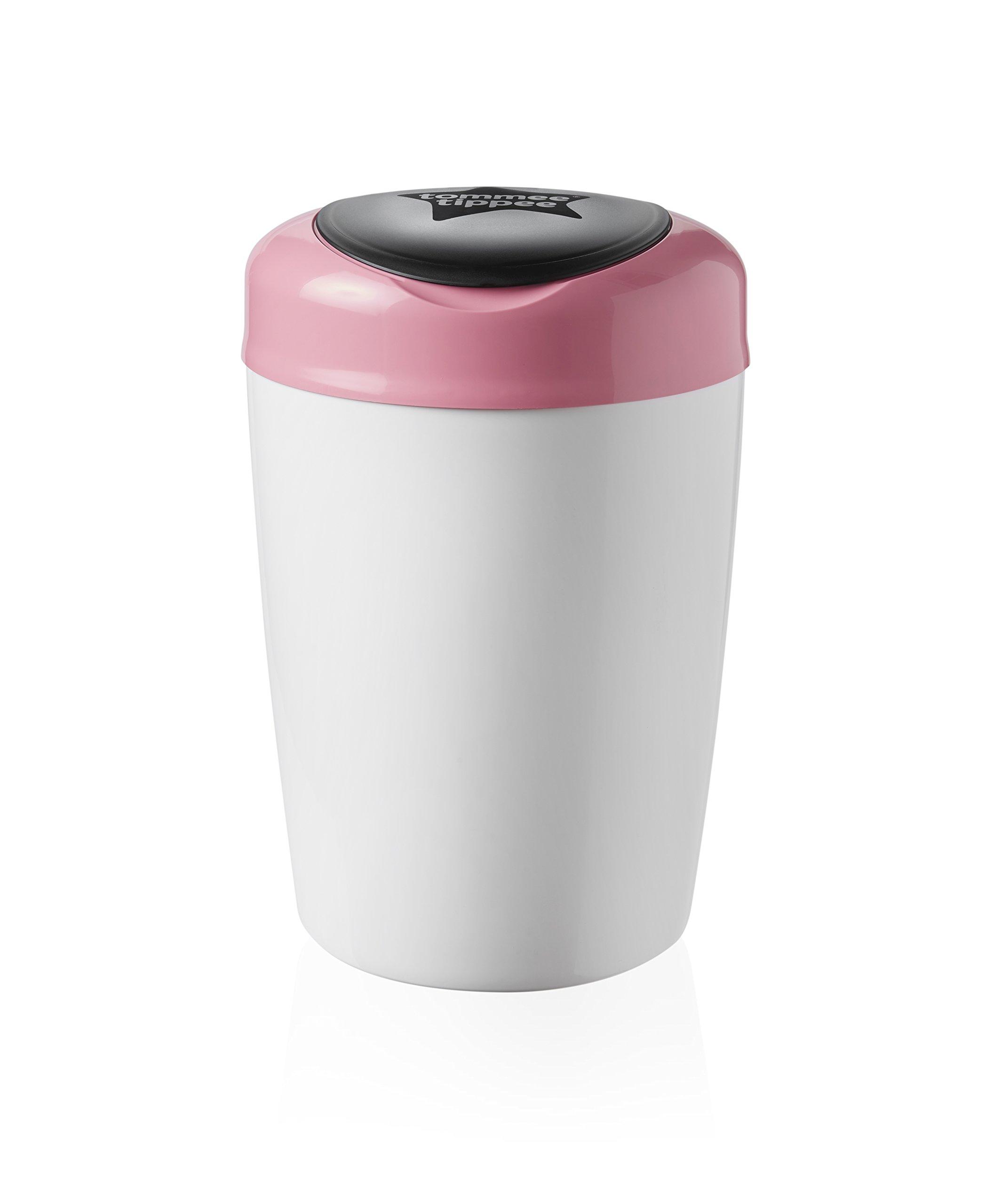 Tommee Tippee Simplee Sangenic Cubo de basura para pañales blanco roto rosa product image