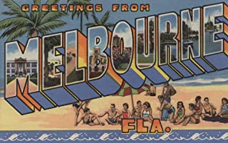 product image for Melbourne, Florida - Large Letter Scenes (16x24 Giclee Gallery Print, Wall Decor Travel Poster)
