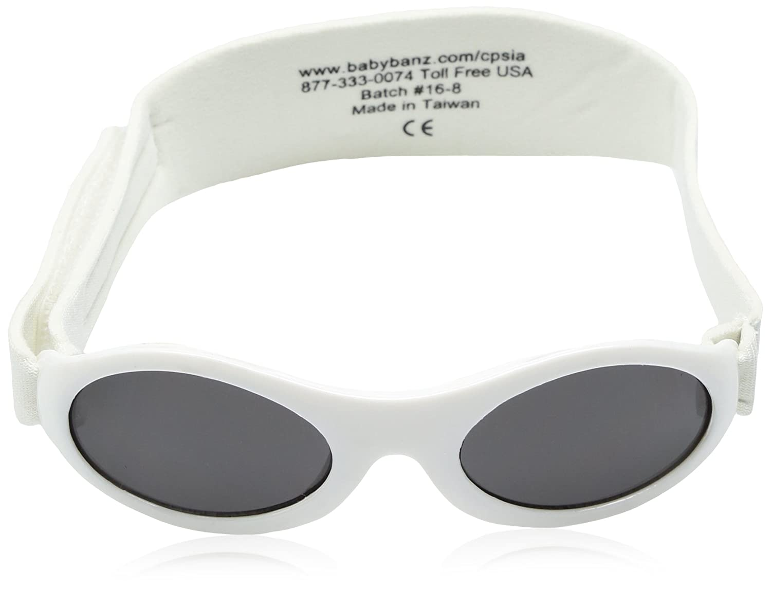 Baby Banz 01//AW weiss Baby Banz Wrap Sunglasses Lens Category 3 Lens Mirrored