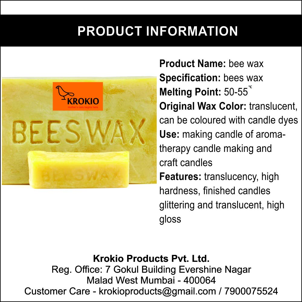 Krokio Beeswax for Candle Making 1 kg: Amazon in: Home & Kitchen