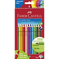 Faber-Castell 5170110912 Jumbo Grip Boya Kalemi, 12 Renk